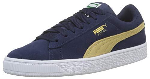 Puma Unisex-Kinder Suede Classic Jr Sneaker, Blau (Peacoat-Taos Taupe), 37.5 EU