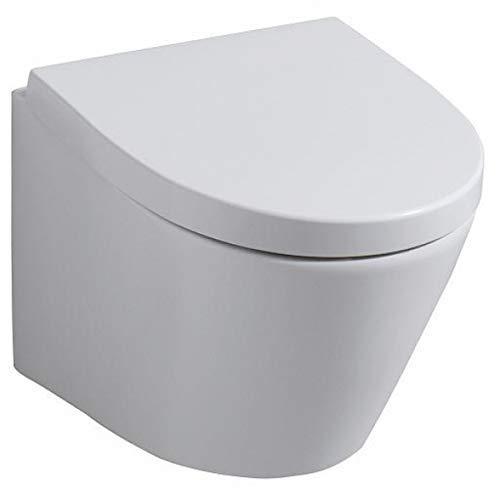 Keramag WC-Sitz Flow Scharniere Edelstahl weiß mit Absenkautomatik, 575950000