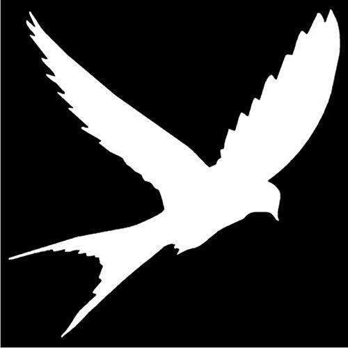 Empty 15,2 x 15,1 cm grappige vogel silhouet autosticker van vinyl en stickers accessoires voor de styling van de auto zwart/zilver Zilver.