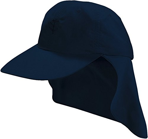 Coolibar Mädchen Sonnenkappe UV-Schutz 50+ Sonnenhut, Blau, L/XL/57CM