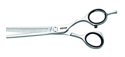 Jaguar Shears Silver Line CJ4 Plus 5.5 Inch Thinner Professional, Ergonomic, Steel Hair Thinning, Texturizing, Cutting & Trimming Scissors for Salon Stylists, Beauticians, Hair Dressers and Barbers
