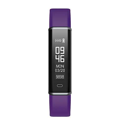 Holeider-Uhr┇Fitness Trackers Pulsmesser - Wasserdicht Armbanduhr Blutdruck Smart Watch Uhr Fitness Armband Schrittzähler Schlafmonitor Kalorienzähler (Lila)