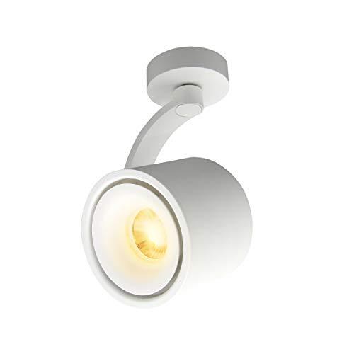 HAOFU 10W LED Spot light Faretti da soffitto orientabile/Faretto Lampada/Lampade da soffitto/3000K Bianco caldo/Aluminum(Bianco-bianco caldo)