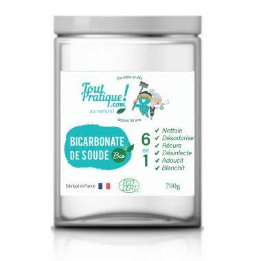 Bicarbonate de soude Bio 700g en Pot Réutilisable - Qualité Supérieure -Naturel -Français