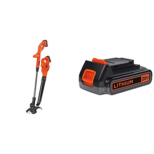 Why Choose BLACK+DECKER 20V MAX Lithium String Trimmer/Edger with Extra Lithium Battery 2.0 Amp Hour...