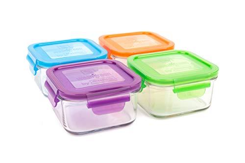 Wean Green vidrio 6 uds. Multicolor Conjunto de contenedores de alimentos