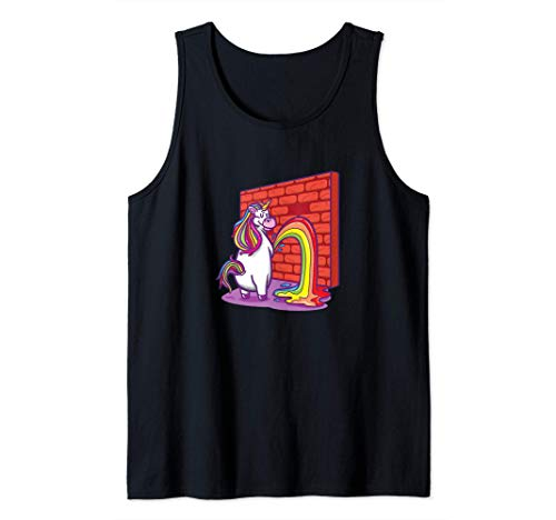 Unicornio Orinando Arcoiris Camiseta sin Mangas