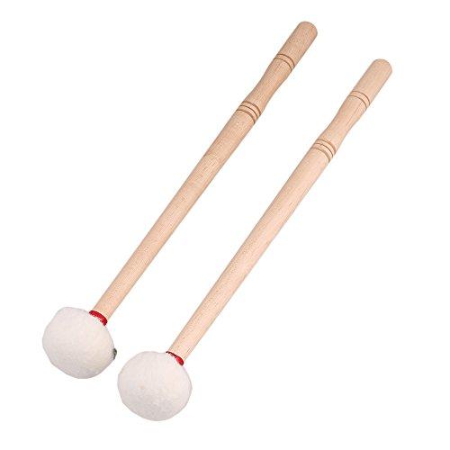 Juego de 2 palitos de madera Timpeni Mallet Head fieltro suave de 12 pulgadas