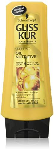 ZWART KOPF GLISS KUR spoeling Oil Nutritive, verpakking van 3 (3 x 200 ml)