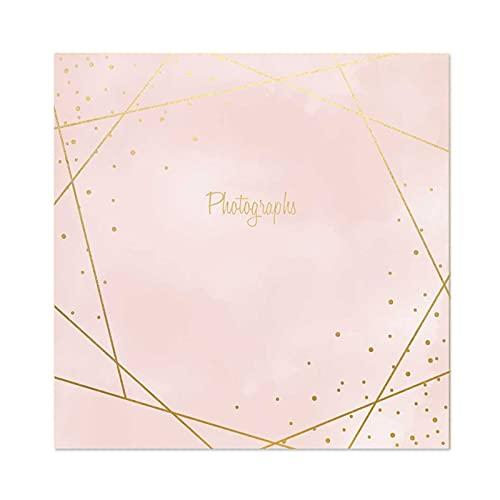 Atlona Tallon Rose Gold Foil Photographs 6x4 Photo Album Memo Slip in Holds...