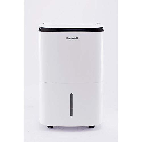 Honeywell TP70WKN 70 Pint Energy Star Dehumidifier with 5 Yr Wty for Basements & Large Rooms Up to 4000 Sq. Ft. with Mirage Display, Washable Filter to Remove Odor & Filter Change Alert, 50, White