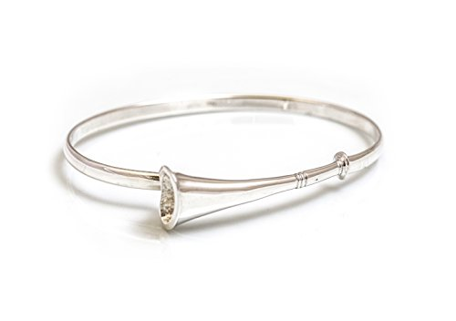 Hiho Sterling Silver Hunting Horn Bangle
