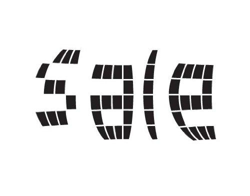 Fenstertattoo No.JO46 Pixel Sale Verkauf Schaufenster Ausverkauf Einkaufen | Glasdekorfolie selbstklebend Milchglasfolie 5 Farben Fensterfolie Klebefolie Glasdekorfolie Sichtschutz Blickschutz Milchglas Fenster Bad Farbe: Frosted; Größe: 26cm x 50cm
