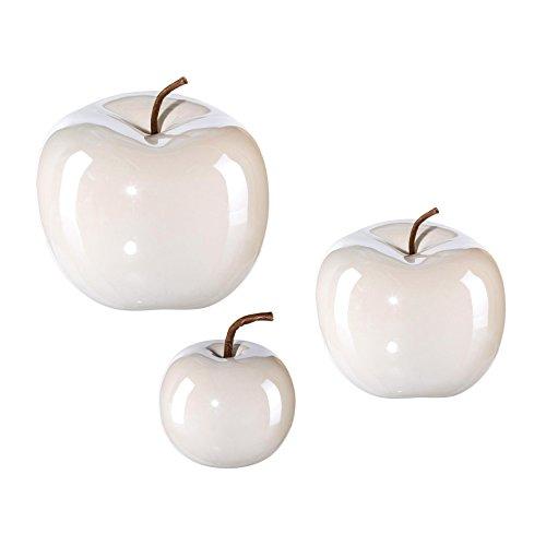 Iovivo Keramik Apfel Pearl Effect, 3er Set