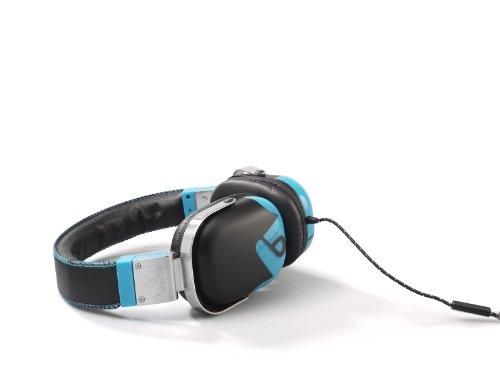 Frends The Classic Kopfhörer mit eingebautem Mikrofon und Fernbedienung, schwarz/blau