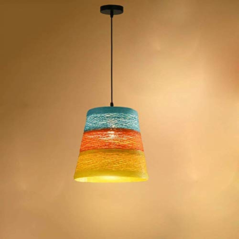 FuweiEncore Glanz-Glanz-Hut-einzelner Führer-kreatives Café-Restaurant-Rattan, das Persnlichkeits-Lichter beleuchtet, pastoralen Art (Farbe   -, Gre   -)