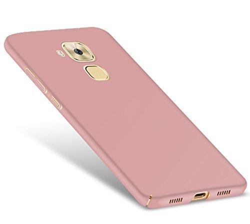 Tianqin Funda Huawei Nova Plus, Ultra-Delgado Carcasa Protectora Ultra Ligera PC Plástico Duro Case Anti-Rasguños Parachoque Estilo Simple para Huawei Nova Plus Estuche - Oro Rosa