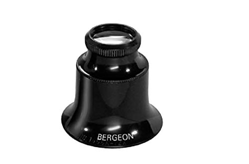 Bergeon 1458-A-15 Watchmakers Double Lens Eyeglass Loupe 15x Magnification