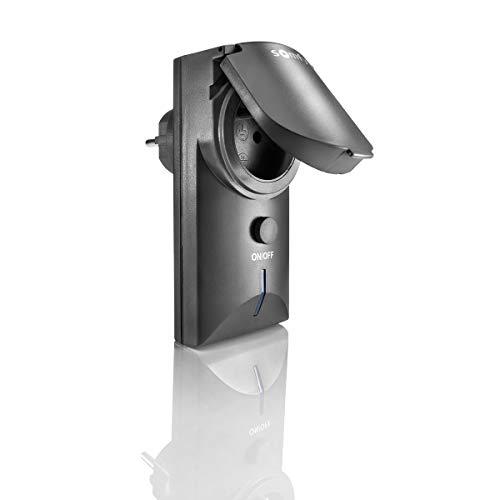 Somfy 2401093 – Steckdose mit Fernbedienung ON/Off außen RTS schwarz