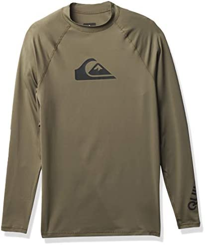 Quiksilver Men s All TIME Long Sleeve Rashguard UPF 50 Kalamata L product image