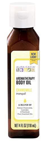 Aura Cacia Tranquil Chamomile Aromatherapy Body Oil | 4 fl. oz.