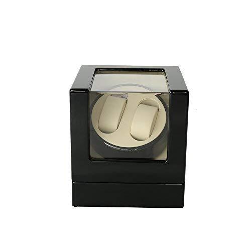 Manyao Reloj automático de la devanadera de Madera rotación automática Watch Winder Almacenamiento Caja de la Pantalla Caja