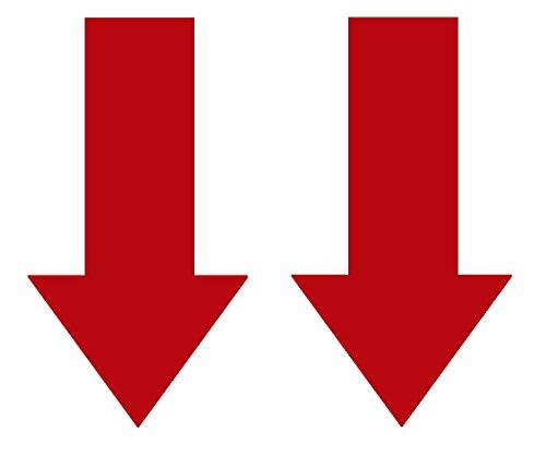 2x Abschlepphaken Pfeil Hochglanz rot passend für Rally, Viper 4 cm x 8 cm