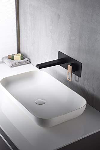 Grifo lavabo empotrado Imex Suecia Negro Oro Rosa BDC032-4NOR