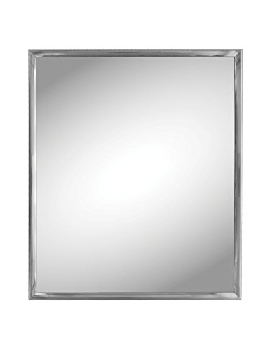 Kole Import StealStreet SS-KI-OC539 Silver Trim Wall Mirror