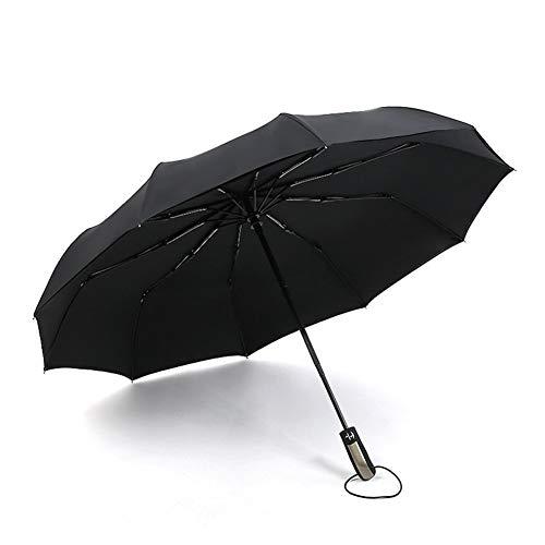 NFHBBAA Grand Business Parapluie Pluie Dames Hommes Parapluie Automatique Parapluie Pliant Hommes Grand