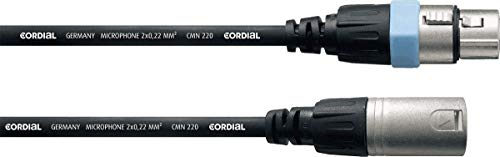 Cordial CCM5FM - Cable para micrófono XLR (macho/hembra, 5 m), color negro