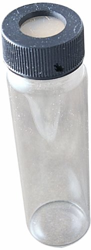 Thomas 9105 Borosilicate Glass 40mL Assembled EPA Vial with Autoclavable Cap (Pack of 72)
