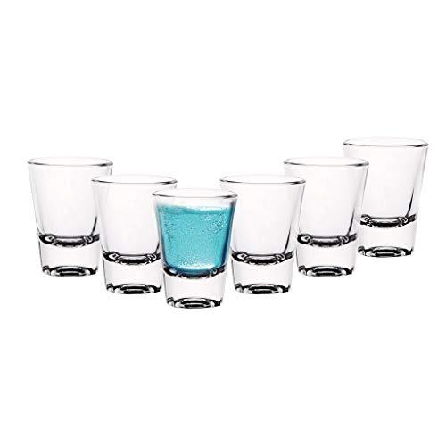 Cello Carino Shot Glass Set, 60ml, Set of 6, Clear (7 cm X 5.4 cm)