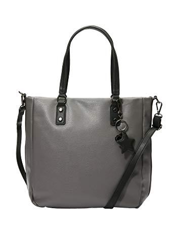 s.Oliver (Bags Damen 39.911.94.3875 Henkeltasche, Grau (Granite/Grey), 12x30,5x30 cm