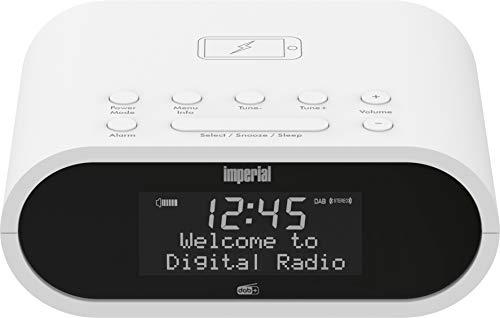 Imperial DABMAN d20 Radiowecker (DAB+ / DAB/UKW, Mono, Wecker, Uhrenradio, Wireless-Charging Funktion, Favoritenspeicher) weiß