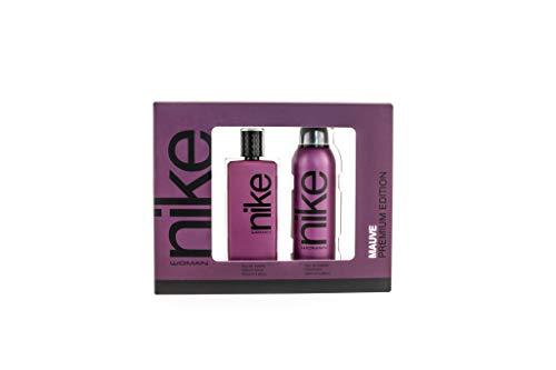 Nike - Mauve Estuche de Regalo para Mujer, Eau de Toilette 100 ml y Desodorante en Spray 200 ml