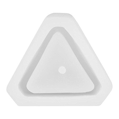 Vaso da Fiori Poligonale Stampo in Silicone Stampo in Cemento ceramico Fai-da-Te Stampi per calcestruzzo Stampo per Piante succulente(Triangle)