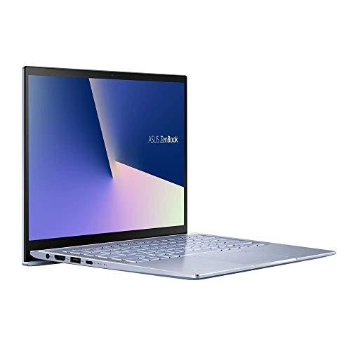 ASUS Computer ZenBook 14 UM431DA (90NB0PB3-M02570) 35,5 cm (14 Zoll, Full HD, IPS-Level, matt) Ultrabook (AMD R5-3500U, AMD Radeon RX Vega 8 Graphics , 8GB RAM, 512GB SSD, Windows 10) Silver Blue