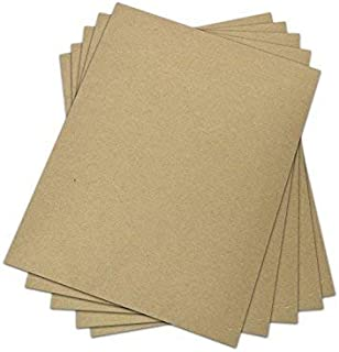 Chipboard - 30 pt (Point) | Medium Weight Scrapbook Sheets | Brown Kraft Cardboard | 25 Sheets per Pack | 8.5 x 11 Inches