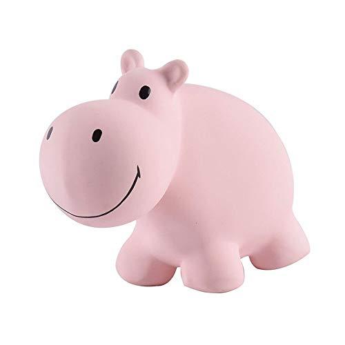 Tikiri Babyrassel Kautschuk Rassel Greifling Nilpferd Hippo Babyspielzeug Naturkautschuk
