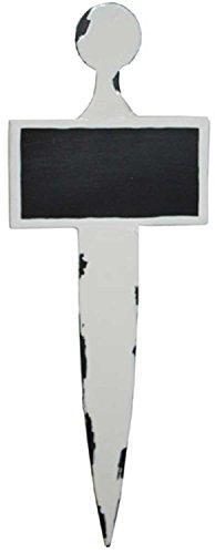 Pflanzschild Blumentafel Metall Tafellack H 25 cm Kräutertafel Pflanzenstecker Preisschild Preistafel