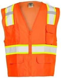 Free shipping New ML Kishigo 1164 Solid Max 68% OFF Front Mesh - Vest Extra Back Safety Orange