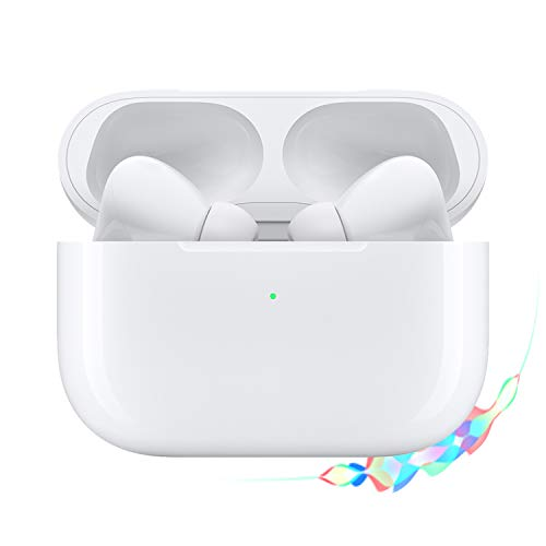 Wireless Earbuds Bluetooth 5.0 Headphones with Charging Case, IPX5 Waterproof, 3D Stereo Air Buds in-Ear Ear Buds Built-in Mic, Pop-ups Auto Pairing for Airpods Android iPhone Apple Earbuds (AirPro)