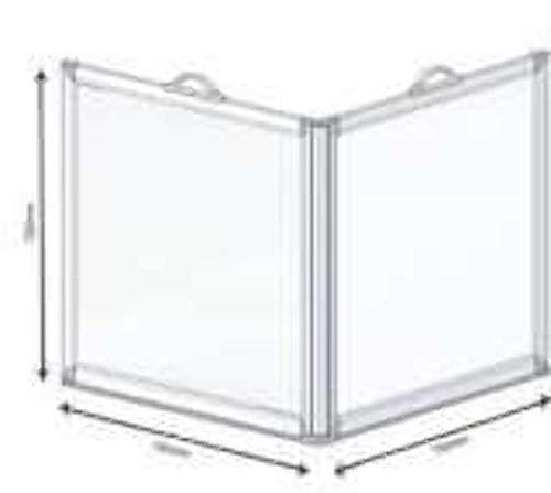 AKW - Mampara de ducha portátil con 2 paneles de ducha PMR