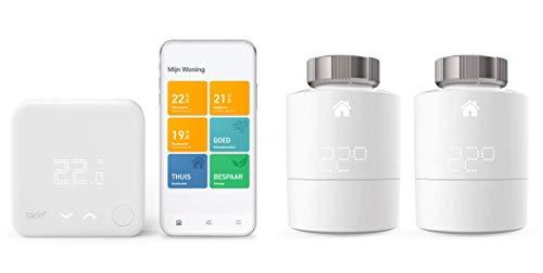 tado° Termostato Inteligente Cableado Kit de Inicio V3+ - Control Inteligente de calefacción + Accesorio para Control de Habitaciones múltiples (Pack Duo)