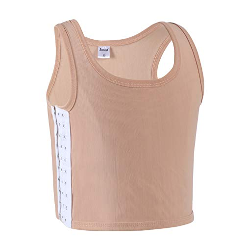 JARAZIN Women Transgender Tomboy Lesbian FTM Ultrathin Mesh Breathable Chest Binder (2XL, Nude)