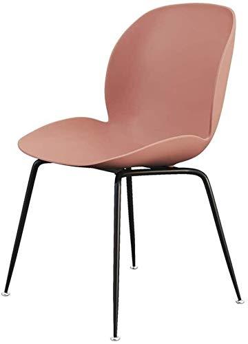 DEWUFAFA Stuhl Mode Kunststoff Dining Chair Lounge Chair Schmiedeeisen Make-up-Stuhl, Wohnzimmer Cafe Dekoration Kaffee Stuhl, erfüllt die Ergonomie Bürostuhl (Color : Pink)