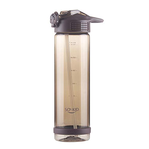 MATT SAGA Bottiglia d'Acqua Sportiva 500ml/700ml/800ml a Prova di Perdite Borracce Senza BPA per Palestra,Sport,Yoga,Campeggio,Bici,Viaggio,Ufficio (Marrone, 800ML)