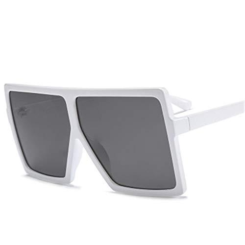 Astemdhj Gafas de Sol Sunglasses Gafas De Sol Cuadradas De Gran Tamaño Vintage para Mujer, Tonos Degradados, Parte Superior Plana, Gafas De Sol De Moda De Lujo para Hombre Y MujerAnti-UV