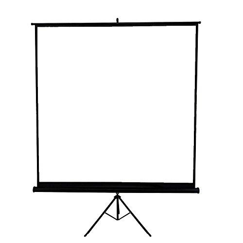 Melko Beamerleinwand mit Stativ, Stativleinwand, Heimkino, Büro, Projektoren, 178 x 178 cm, 99 Zoll - Ideal für HD-TV